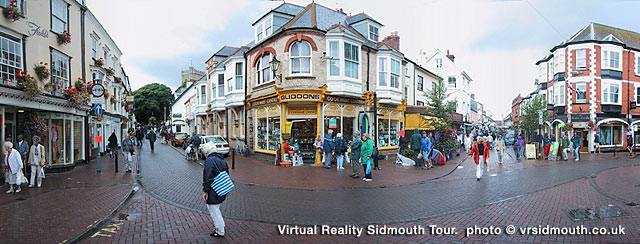 Shopping in Sidmouth Maket